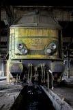 Verlassener Serienlastwagen Stockfoto