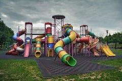Verlassener Spielplatz Stockbild