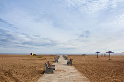 Verlassener Strand Stockfotos