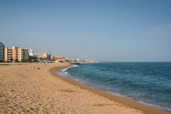 Verlassener Strand lizenzfreies stockbild