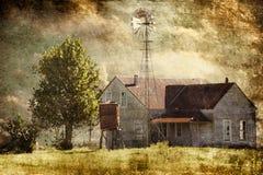 Verlassener Texas Hill Country Farmhouse stockbild