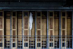 Verlassener und historischer Irem-Tempel für Shriners - Wilkes-Barre, Pennsylvania Lizenzfreies Stockbild