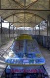 Verlassener Vergnügungspark in Berlin Stockbild