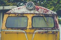 Verlassener Zug-Blockwagen Stockbild