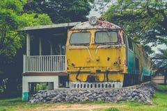 Verlassener Zug-Blockwagen Lizenzfreies Stockbild