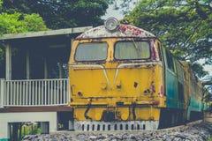 Verlassener Zug-Blockwagen Lizenzfreie Stockfotos