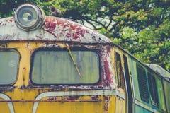 Verlassener Zug-Blockwagen Stockfoto