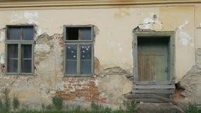 Verlassenes altes Haus stock footage