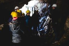 Verlassenes Bergwerk - Besucher Lizenzfreie Stockfotografie
