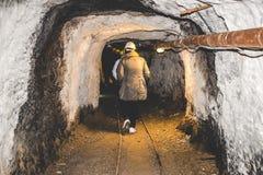 Verlassenes Bergwerk - Besucher Stockfotografie