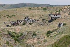 Verlassenes Bergwerk im amerikanischen wilden Westen stockbilder
