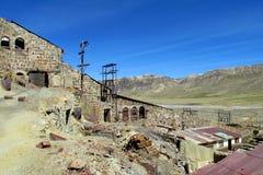 Verlassenes Bergwerkgebäude in Bolivien Stockbild