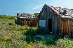 Verlassenes Blockhaus-Gehöft in Wyoming Lizenzfreies Stockbild