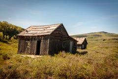 Verlassenes Blockhaus-Gehöft in Wyoming Stockbild
