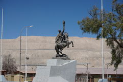 Verlassenes Dorf von Chuquicamata, Atacama, Chile Lizenzfreies Stockbild