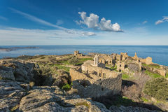 Verlassenes Dorf von Occi nahe Lumio in Korsika Lizenzfreie Stockfotografie