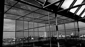 Verlassenes errichtendes BW4 Stockbilder