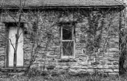 Verlassenes Felsen-Haus mit Reben Lizenzfreie Stockfotografie
