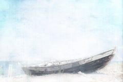 Verlassenes Fischerboot stockfotos