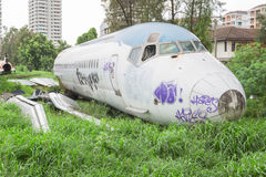 Verlassenes Flugzeug Stockfoto