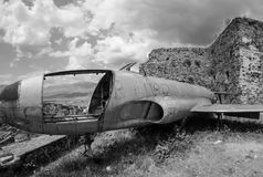 Verlassenes Flugzeug Lizenzfreie Stockfotos