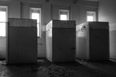 Verlassenes frequentiertes Haus Stockbild