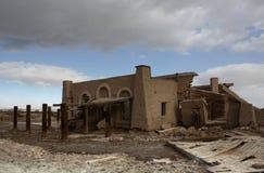 Verlassenes Gebäude in dem Salton Meer Stockfoto