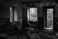 Verlassenes Gebäude vom Innere Stockfotografie