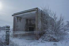 Verlassenes Gebäude von Gewichten Stockfoto