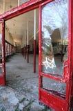 Verlassenes Gebäude in Primorsko Stockbild
