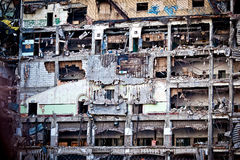 Verlassenes Handelsgebäude in Detroit Stockbilder
