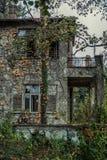 Verlassenes Haus in Belgrad Stockfotografie