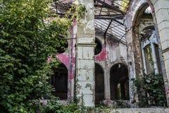 Verlassenes Haus in Beocin Stockfotos