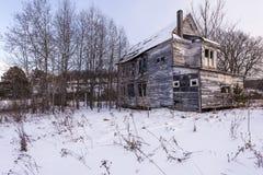 Verlassenes haus- ländliches Pennsylvania Stockfotografie