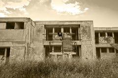 Verlassenes Hotel Stockfotos