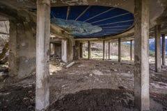 Verlassenes Hotel in Georgia lizenzfreies stockfoto
