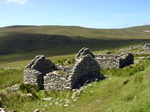 Verlassenes irisches Dorf Stockfoto