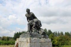 Verlassenes kommunistisches Monument in Bulgarien, Osteuropa lizenzfreies stockfoto