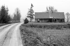 Verlassenes Landschaft-Haus Lizenzfreies Stockbild