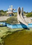 Verlassenes lido auf Rhodos, Griechenland lizenzfreie stockfotografie