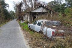 Verlassenes Louisiana-Haus lizenzfreies stockbild
