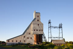 Verlassenes Minenschacht-Haus Stockfoto