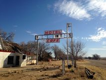 Verlassenes Motel Stockbild