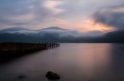 Verlassenes peir Loch Lomond Lizenzfreie Stockfotos