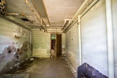 Verlassenes Querstadt-Michigan-Krankenhaus-Asyl Stockfotos