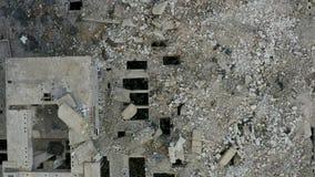 Verlassenes ruiniertes industrielles Fabrikgebäude, stock footage