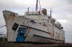 Verlassenes Schiff, stockbild