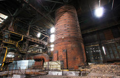Verlassenes Stahlwerk Stockfotos