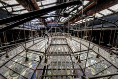 Verlassenes und historisches Irem-Tempel-Theater für Shriners - Wilkes-Barre, Pennsylvania Stockbilder