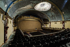 Verlassenes und historisches Irem-Tempel-Theater für Shriners - Wilkes-Barre, Pennsylvania Lizenzfreie Stockbilder